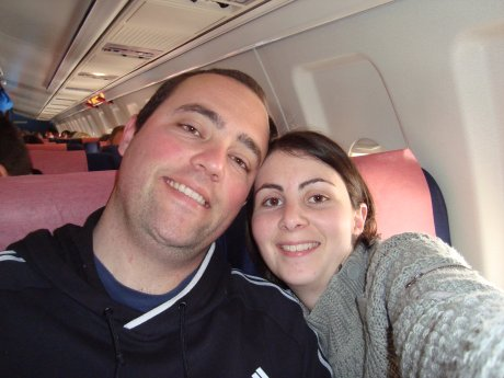 Nous dans l'avion